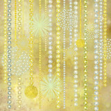 Gold and Pearl Christmas Decorations Background