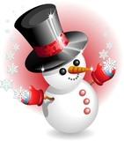 Pupazzo di Neve con Cappello-Snowman with Hat-vector