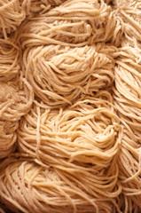 Noodle make form egg and flour at Laos.