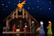Weihnachtliche Krippe