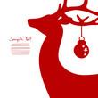 Walking Reindeer & Christmas Ball Cropped