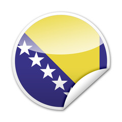 Pegatina bandera Bosnia Herzegovina con reborde