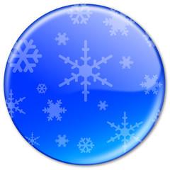 """Bouton """"FLOCONS DE NEIGE"""" (sports d'hiver gel froid congélation)"""