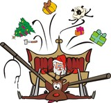 christmas sleigh raid poster