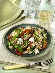 warm pasta salad - salade de pâtes chaudes -