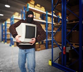thief in warehouse