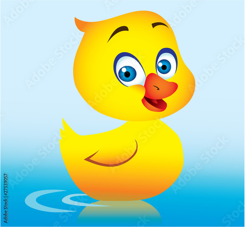 Foto op Canvas Sweet Monsters cartoon duck