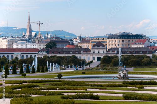 Catedral San esteban Viena desde El palacio Belvedere