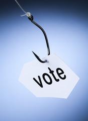 mot vote accroché à hameçon crochet