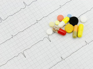 Medicines and the cardiogram of heart