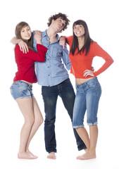 trois jeunes adolescents filles garçon