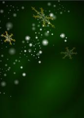 Weihnachtlicher, abstrakter, grüner Hintergrund