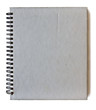Spiral gray notebook isolated on white background