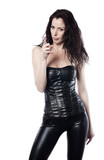 femme vinyl latex sexy érotique poster