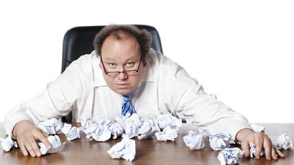 business man manager à court d'idées