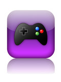 VIDEO GAMES Web Button (play online gamepad arcade control pad) poster