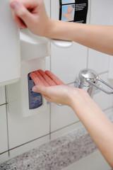 Händedesinfektion in der Arztpraxis