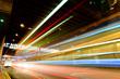 Quadro traffic in city at night