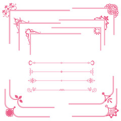 cute frame and line