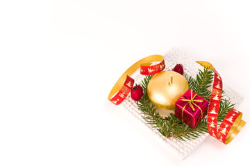 christmas arrangement on white background