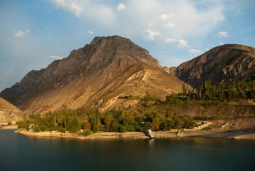 Mountains around Charvak reservoir in Uzbekistan