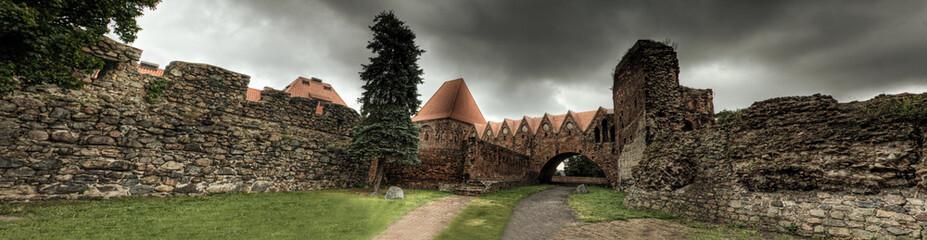 Panorama. Zabytkowy zamek w Toruniu