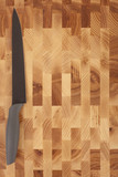 kitchen knifes isolated on wooden background