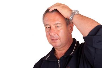 Mann hat Kopfschmerzen 592