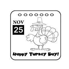 Black And White Thanksgiving Holiday Calendar