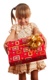 Child with gift box - Fine Art prints
