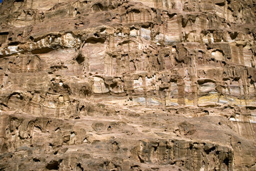 Rock formation, Petra, Jordan