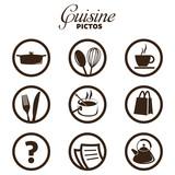 Fototapety cuisine pictos