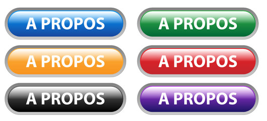 Série de Boutons Web A PROPOS (info identité nous contacter qui)