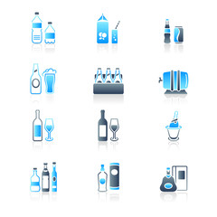 Drink bottles icons | MARINE series