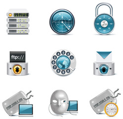 Vector internet and network icons. Part 3