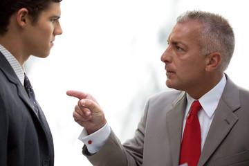 Man shouting on his employee