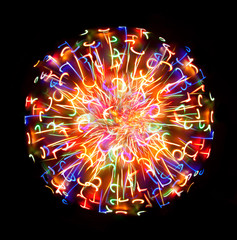Multi-coloured light sphere