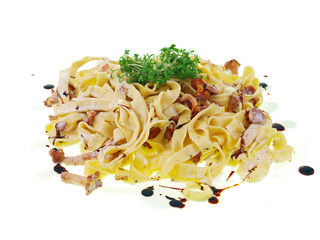 fettuccine with chanterelle