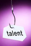 talent mot accroché à hameçon crochet poster