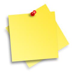 Notizzettel mit Pin