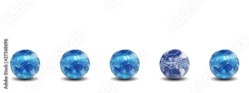 High resolution conceptual 3d soccer balls