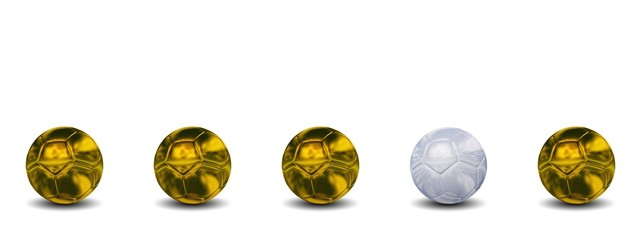 High resolution conceptual 3d soccer balls isolated