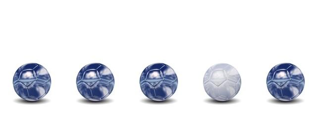 High resolution conceptual 3d soccer balls
