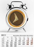2011 november calendar poster