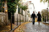 Couple in Paris at Montmartre