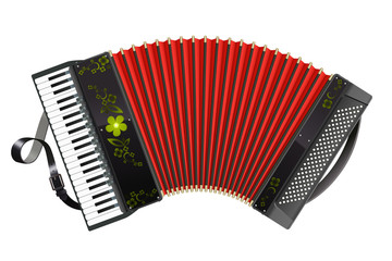 Stretched black Accordion