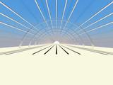 tunnel corridoio poster