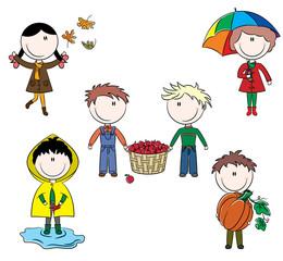 Autumn cute kids