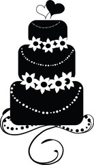 Wedding Cake - Black and White