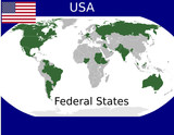 USA federal states union sovereign political poster